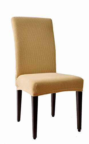 Stretch Dining Room Chair Slipcovers subrtex dyed jacquard stretch dining room chair slipcovers – pets geeks