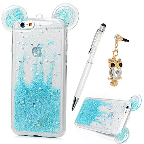 finest selection 12508 3f14d iPhone 6S Case,iphone 6 Case, YOKIRIN Liquid Cute Quicksand Moving Stars  Bling Glitter Floating Dynamic Flowing Case Liquid Cover for iphone 6S/6 ...